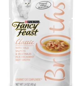 FANCY FEAST CLASSIC BROTHS SALMON & VEGETABLES 1.4OZ CASE OF 16