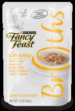 FANCY FEAST CREAMY BROTHS TUNA ,CHICKEN & WHITEFISH 1.4OZ