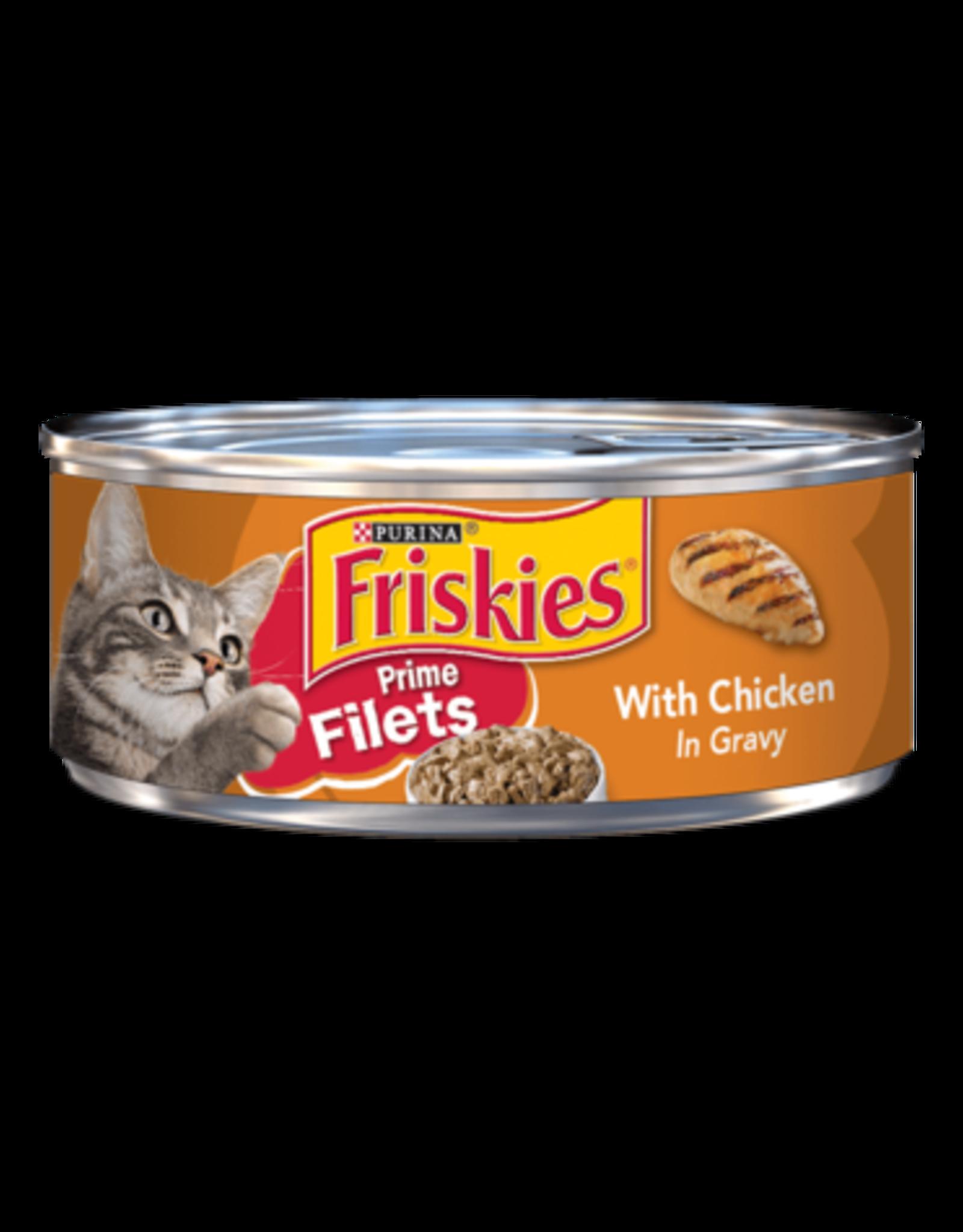 FRISKIES CAT CHICKEN IN GRAVY PRIME FILETS 5.5OZ CASE OF 24