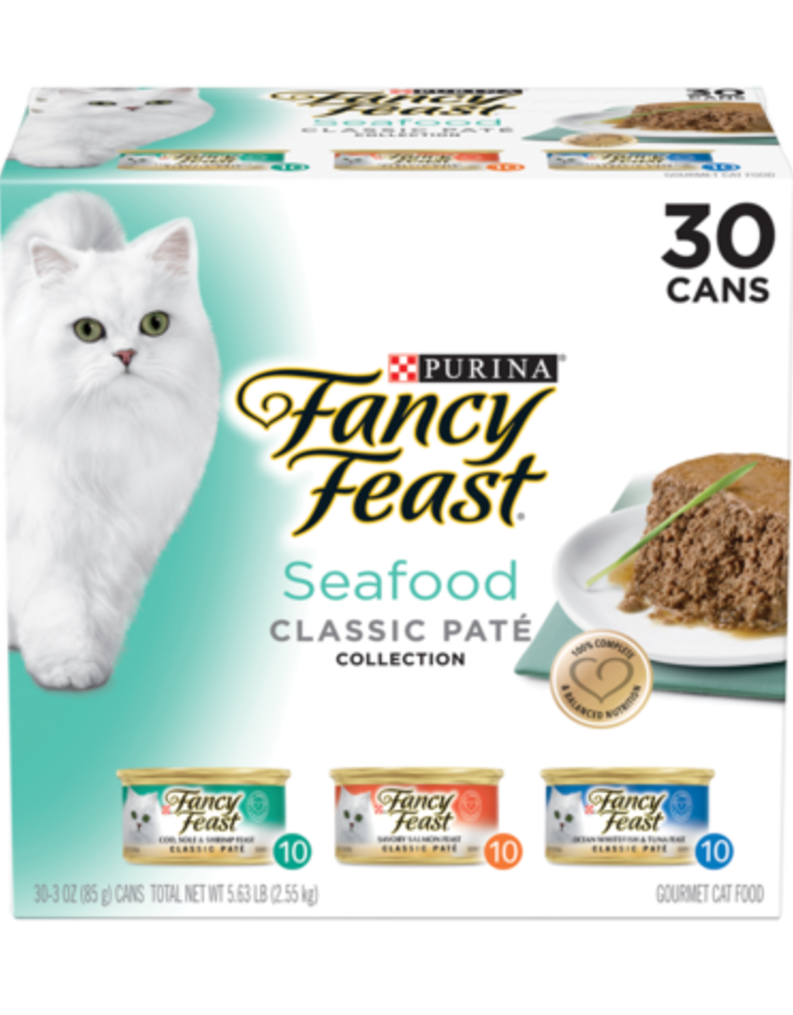 FANCY FEAST SEAFOOD CLASSIC PATE VARIETY CANS 24 PACK
