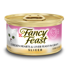 FANCY FEAST SLICED CHICKEN HEARTS & LIVER CASE OF 24