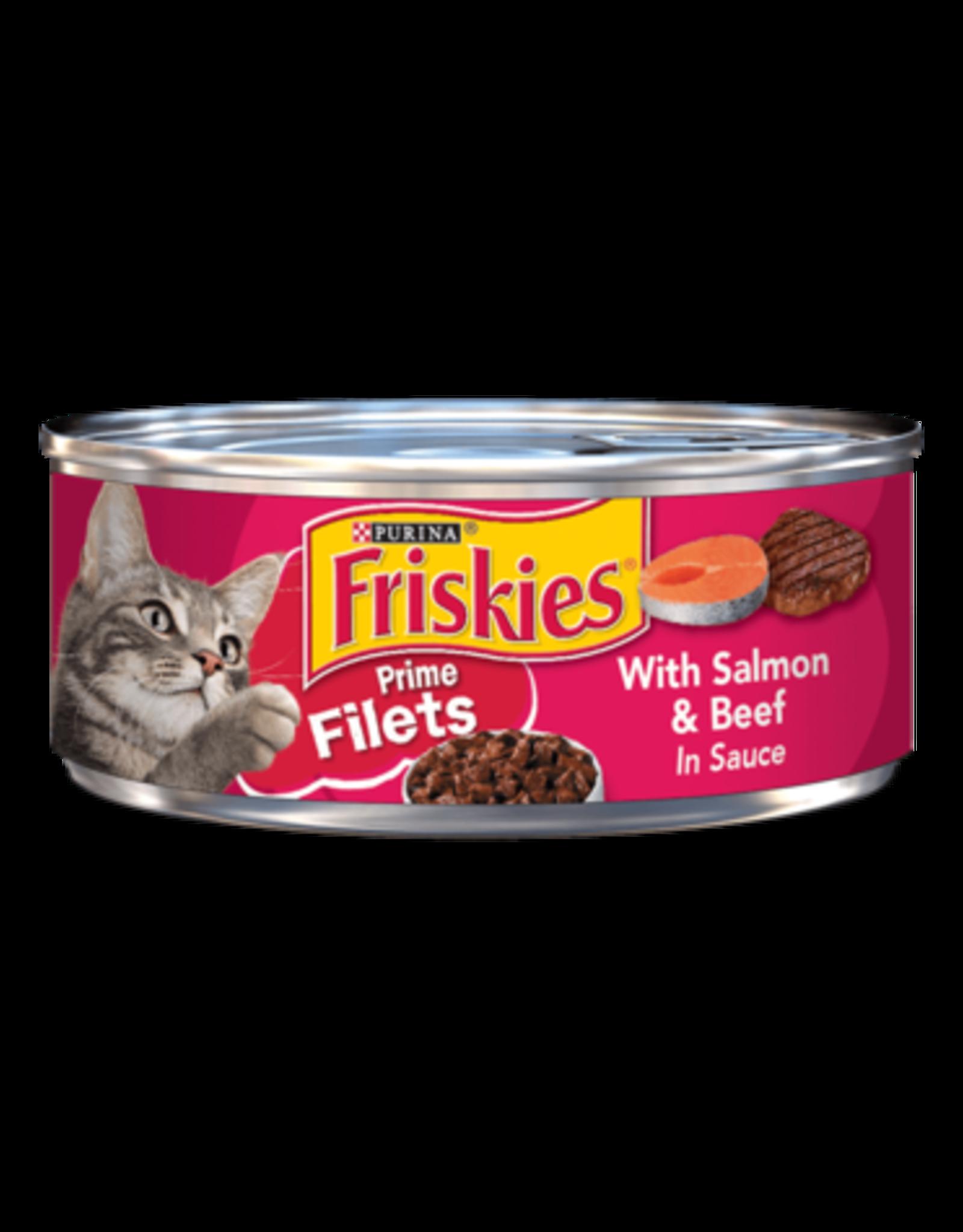 FRISKIES CAT PRIME FILETS SALMON & BEEF 5.5OZ CASE OF 24