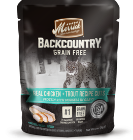 MERRICK PET CARE, INC. MERRICK CAT BACKCOUNTRY CHICKEN & TROUT POUCH 3 OZ CASE OF 24
