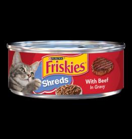 FRISKIES CAT SHREDDED BEEF IN GRAVY 5.5 OZ CAN
