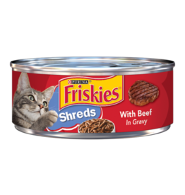 FRISKIES CAT SHREDDED BEEF IN GRAVY 5.5 OZ CASE OF 24