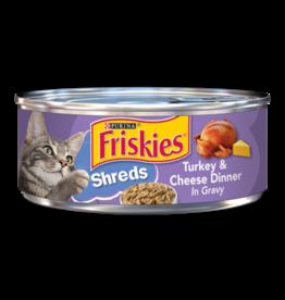 FRISKIES CAT SHREDDED TURKEY & CHEESE 5.5OZ CAN