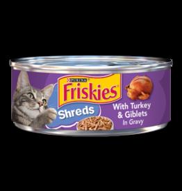 FRISKIES CAT SHREDDED TURKEY & GIBLETS 5.5OZ CAN
