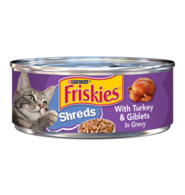 FRISKIES CAT SHREDDED TURKEY & GIBLETS 5.5OZ CASE OF 24
