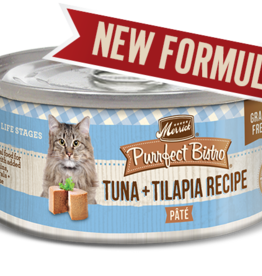 MERRICK PET CARE, INC. MERRICK CAT PURRFECT BISTRO TUNA & TILAPIA PATE 5.5 OZ CASE OF 24