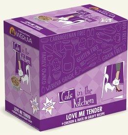 WERUVA INTERNATIONAL, INC. WERUVA CAT LOVE ME TENDER CHICKEN & DUCK 3OZ CASE OF 12