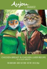 RAWZ AUJOU BY RAWZ CAT CHICKEN & CHICKEN LIVER RECIPE 2.46OZ