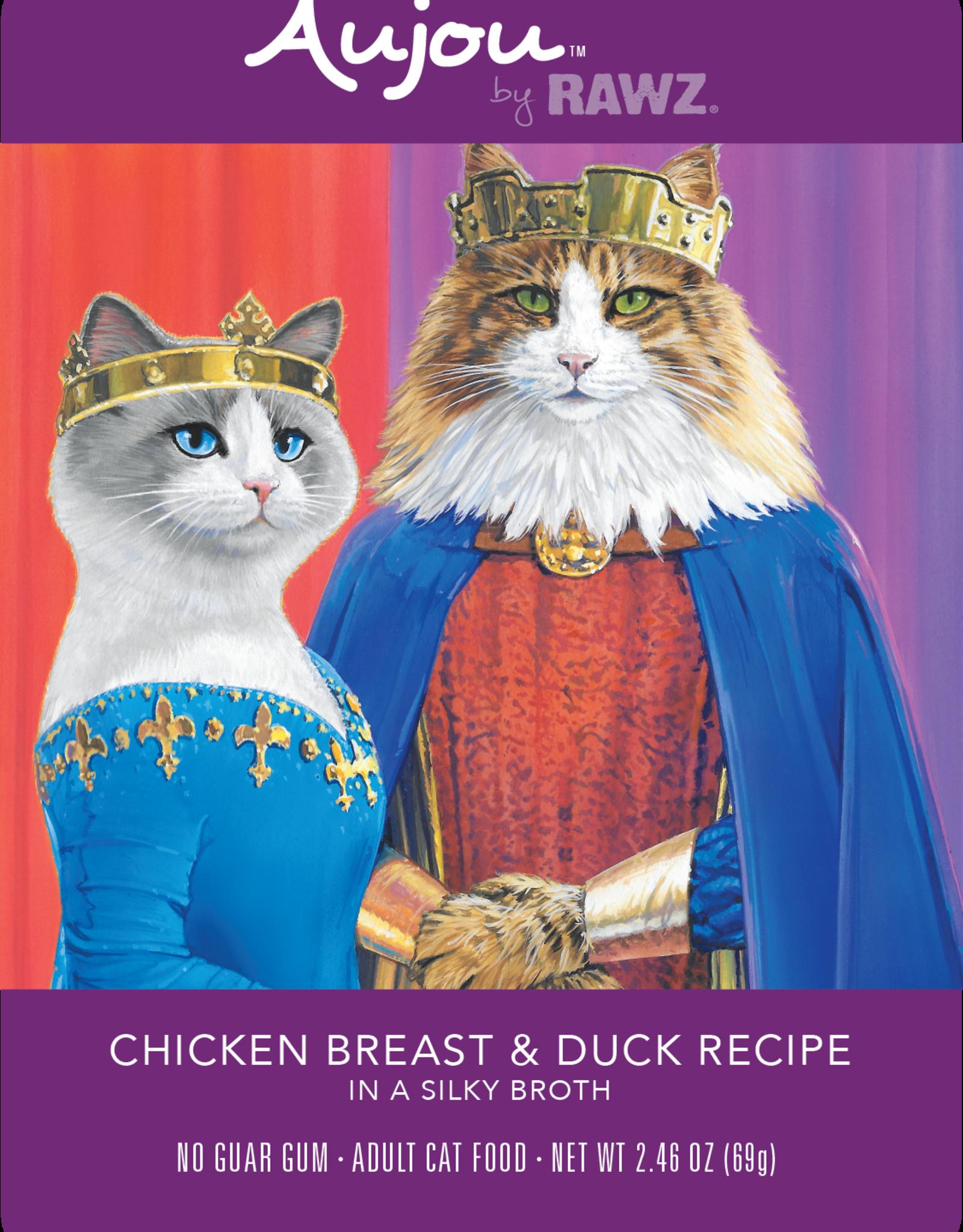 RAWZ AUJOU BY RAWZ CAT CHICKEN & DUCK RECIPE 2.46OZ BOX OF 8