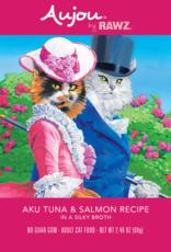 RAWZ AUJOU BY RAWZ CAT TUNA & SALMON RECIPE 2.46OZ BOX OF 8