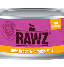 RAWZ RAWZ CAT CAN RABBIT & PUMPKIN PATE 5.5OZ CASE OF 24