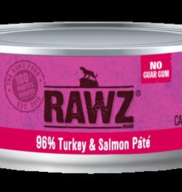 RAWZ RAWZ CAT CAN TURKEY & SALMON 5.5OZ CASE OF 24