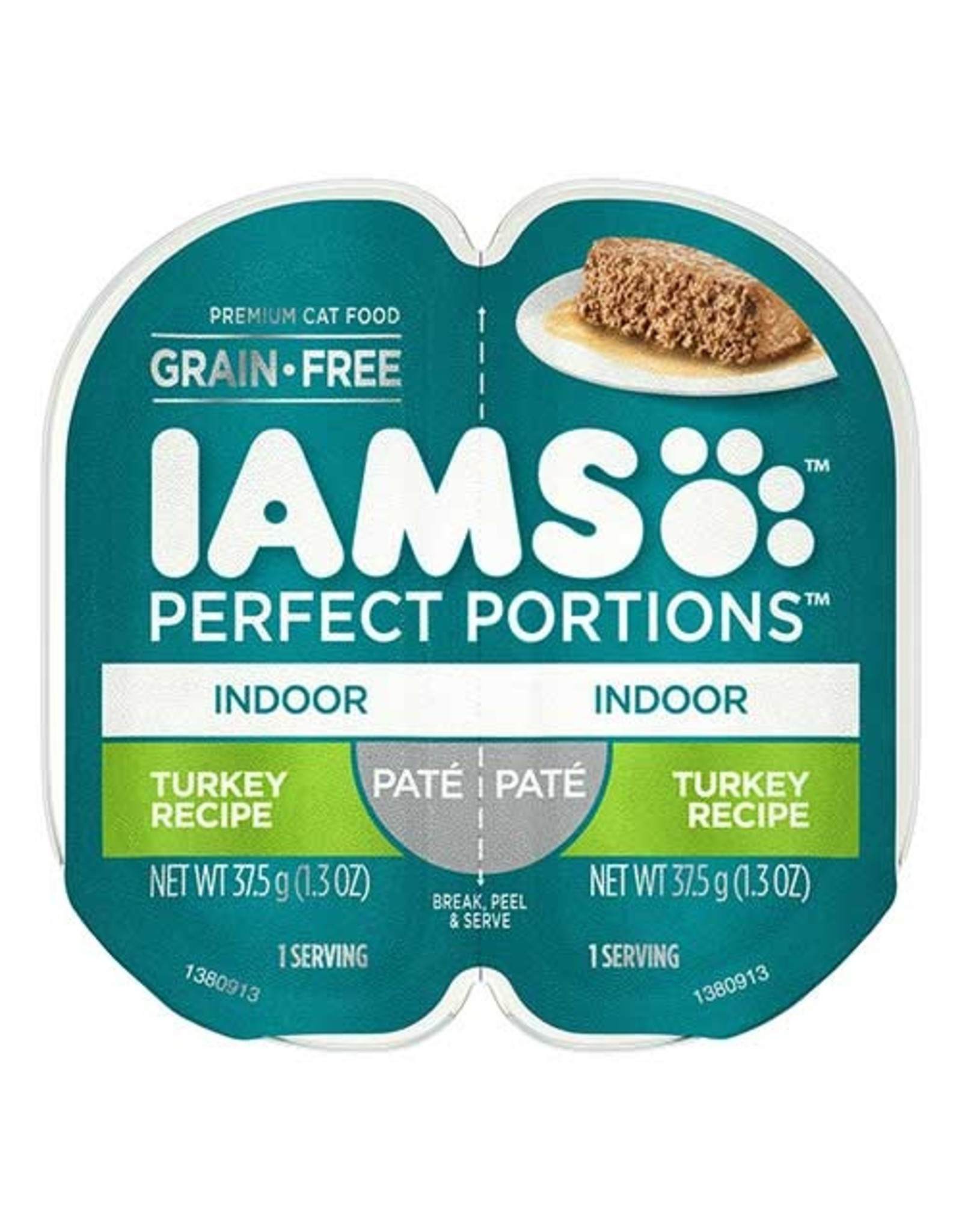 IAMS COMPANY IAMS CAT PERFECT PORTIONS INDOOR TURKEY PATE 2.6OZ
