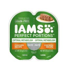 IAMS COMPANY IAMS CAT PERFECT PORTIONS OPTIMAL METABOLISM CHICKEN PATE 2.6OZ