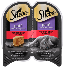 MARS PET CARE SHEBA PERFECT PORTIONS BEEF PATE 2.6OZ