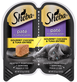 MARS PET CARE SHEBA PERFECT PORTIONS CHICKEN & TUNA PATE  2.6OZ CASE OF 24