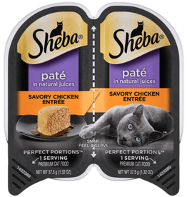 MARS PET CARE SHEBA PERFECT PORTIONS SAVORY CHICKEN PATE 2.6OZ CASE OF 24