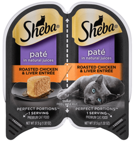 MARS PET CARE SHEBA PERFECT PORTIONS CHICKEN/LIVER PATE CUTS 2.6OZ