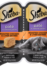 MARS PET CARE SHEBA PERFECT PORTIONS CHICKEN/LIVER PATE CUTS 2.6OZ CASE OF 24