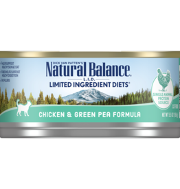 NATURAL BALANCE PET FOODS, INC NATURAL BALANCE CAT CAN CHICKEN & GREEN PEAS 3OZ