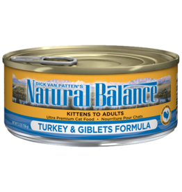 NATURAL BALANCE PET FOODS, INC NATURAL BALANCE CAT CAN TURKEY & GIBLETS 5.5OZ CASE OF 24