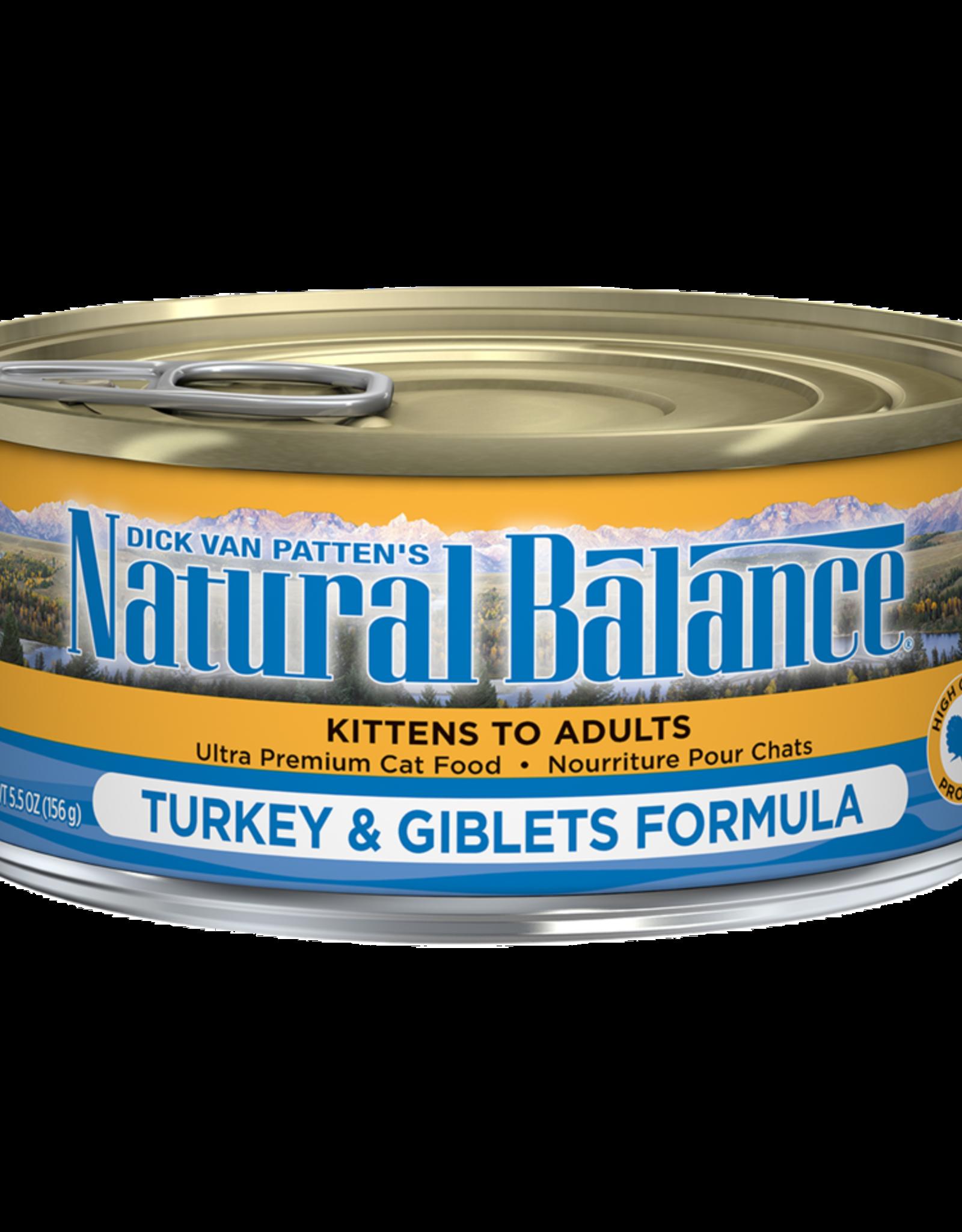 NATURAL BALANCE PET FOODS, INC NATURAL BALANCE CAT CAN TURKEY & GIBLETS 3OZ