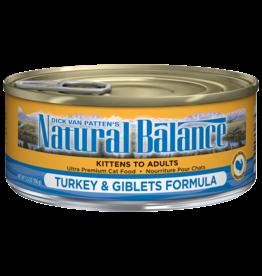 NATURAL BALANCE PET FOODS, INC NATURAL BALANCE CAT CAN TURKEY & GIBLETS 3OZ CASE OF 24
