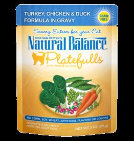 NATURAL BALANCE PET FOODS, INC NATURAL BALANCE CAT PLATEFULS TURK/CHICK/DUCK 3OZ