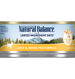 NATURAL BALANCE PET FOODS, INC NATURAL BALANCE CAT DUCK & GREEN PEA 5.5OZ CASE OF 24