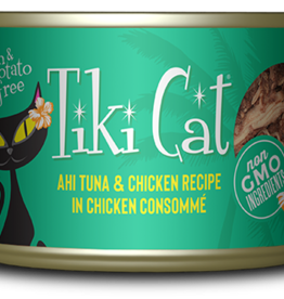 TIKI TIKI CAT HOOKENA AHI TUNA & CHICKEN 2.8OZ CASE OF 12