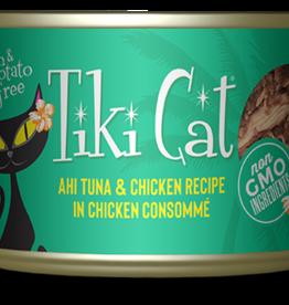 TIKI TIKI CAT LUAU AHI TUNA & CHICKEN CAN 2.8OZ CASE OF 12