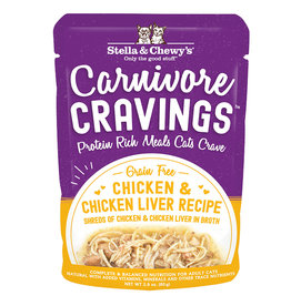STELLA & CHEWY'S LLC STELLA & CHEWY'S CAT CARNIVORE CRAVINGS CHICKEN & LIVER 2.8OZ CASE OF 24