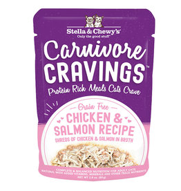 STELLA & CHEWY'S LLC STELLA & CHEWY'S CAT CARNIVORE CRAVINGS CHICKEN & SALMON 2.8OZ CASE OF 24