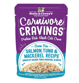 STELLA & CHEWY'S LLC STELLA & CHEWY'S CAT CARNIVORE CRAVINGS SALMON & TUNA 2.8OZ CASE OF 24