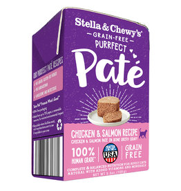 STELLA & CHEWY'S LLC STELLA & CHEWY'S CAT PURRFECT PATE CHICKEN & SALMON 5.5OZ CASE OF 12