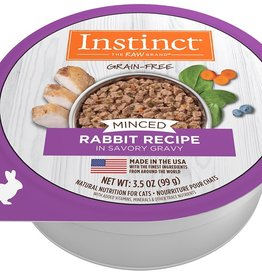 NATURE'S VARIETY NATURES VARIETY INSTINCT MINCED RABBIT CAT 3.5OZ CASE OF 12