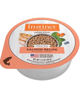 NATURE'S VARIETY NATURES VARIETY INSTINCT MINCED SALMON CAT 3.5OZ CASE OF 12