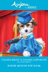 RAWZ AUJOU BY RAWZ DOG CHICKEN & CHICKEN LIVER RECIPE 2.46OZ BOX OF 8