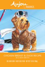 RAWZ AUJOU BY RAWZ DOG CHICKEN & DUCK RECIPE 2.46OZ BOX OF 8