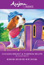 RAWZ AUJOU BY RAWZ DOG CHICKEN & PUMPKIN RECIPE 2.46OZ BOX OF 8
