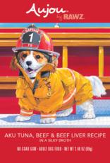 RAWZ AUJOU BY RAWZ DOG TUNA, BEEF & BEEF LIVER RECIPE 2.46OZ BOX OF 8
