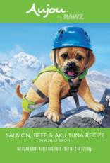 RAWZ AUJOU BY RAWZ DOG SALMON BEEF & TUNA RECIPE 2.46OZ