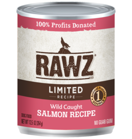 RAWZ RAWZ DOG CAN LID SALMON 12.5OZ CASE OF 12