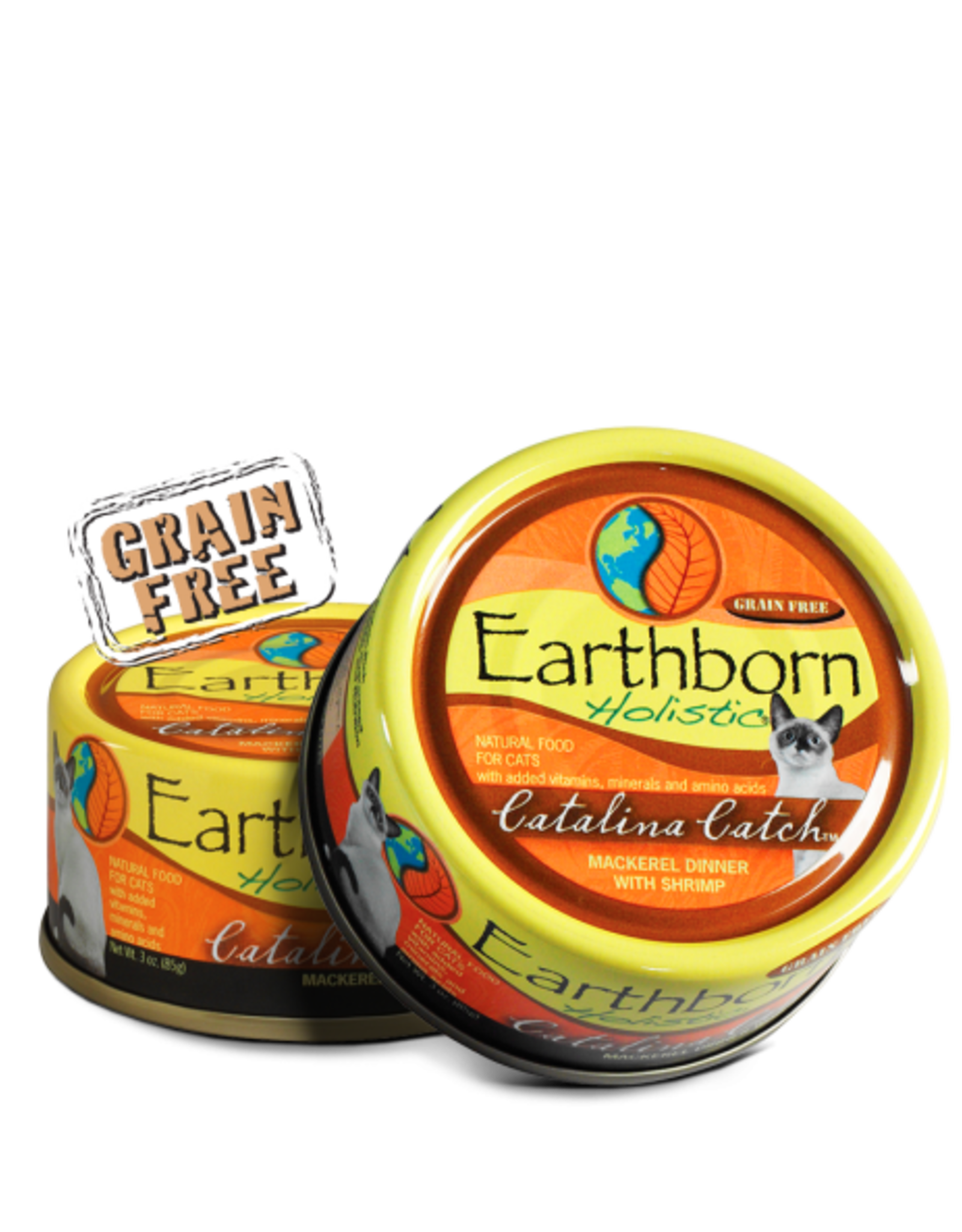 EARTHBORN EARTHBORN HOLISTIC CATALINA CATCH MACKEREL & SHRIMP 3OZ