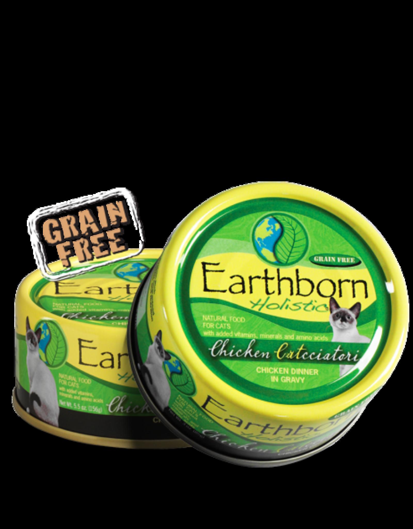 EARTHBORN EARTHBORN HOLISTIC CHICKEN CATCCIATORI CHICKEN/GRAVY 3OZ CASE OF 24