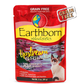 EARTHBORN EARTHBORN HOLISTIC CAT UPSTREAM GRILLE POUCH 3OZ CASE OF 24