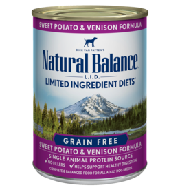 NATURAL BALANCE PET FOODS, INC NATURAL BALANCE DOG CAN SWEET POTATO & VENISON FORMULA 13OZ